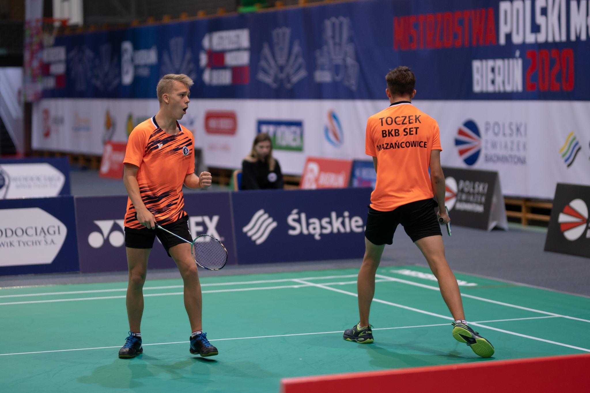 Michał Szczypka i Jacob Toczek podczas gry